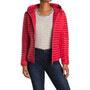 SAVE THE DUCK L Red IRIS Hooded Puffer Jacket
